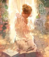 fillette en prière