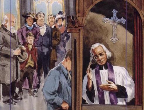 Prières à faire avant et au moment de la confession St-john-vianney-confession