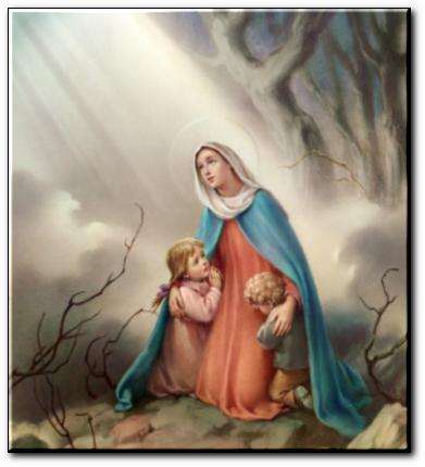 Marie avec enfants