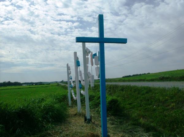 chapelet à l'entrée du Sanctuaire DUPUY 2010