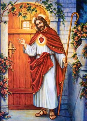 31_Christ at door