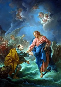 St. Peter Invited To Walk On The Water by Francois Boucher