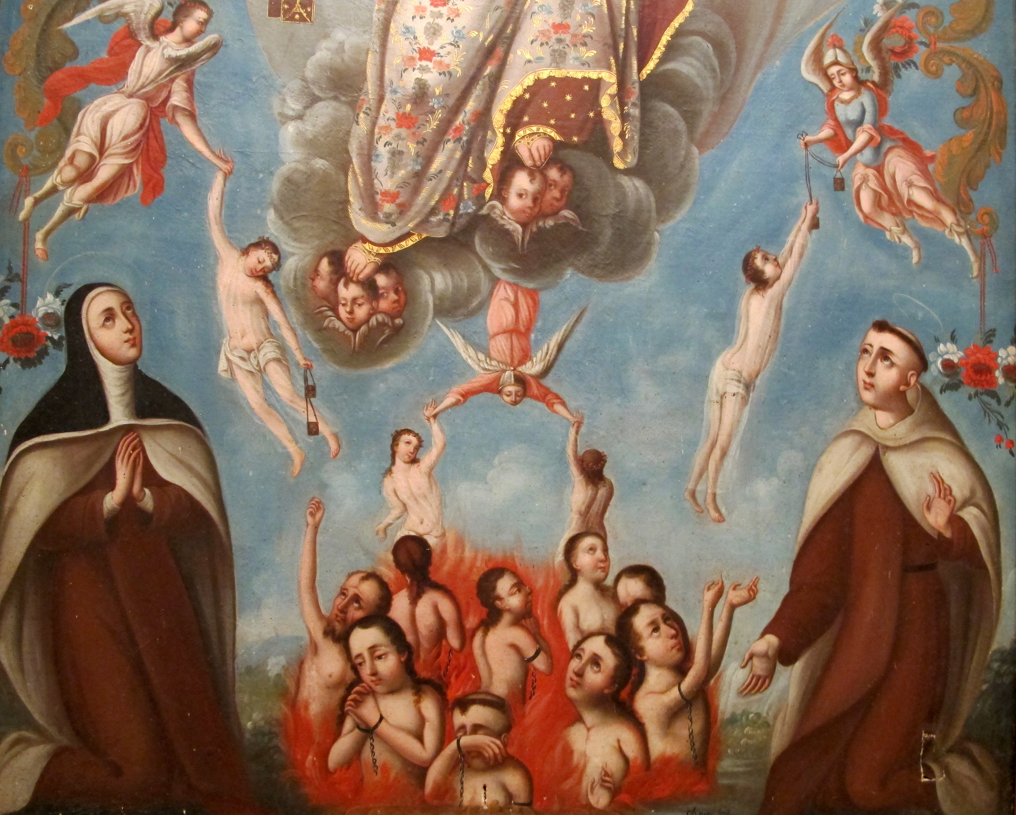Le Notre Père de Sainte Mechtilde pour les âmes du purgatoire Arrachc3a9-du-purgatoire-scapulaire