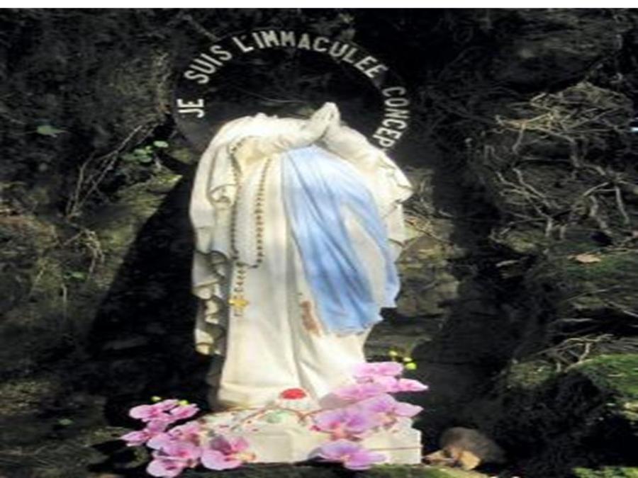 La t te de la vierge marie arrach e messages proph ties for Statue vierge marie pour exterieur