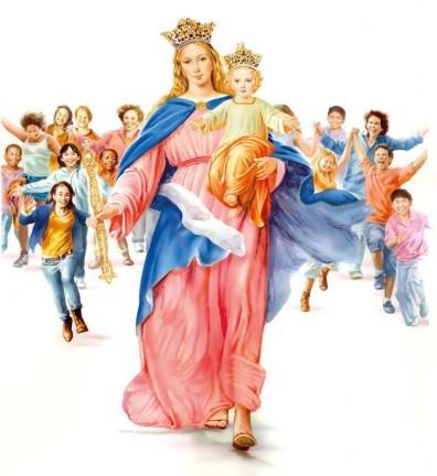 Résultats de recherche d'images pour «vierge Marie qui court avec les enfants»