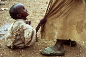 Starving Child Begging for Help