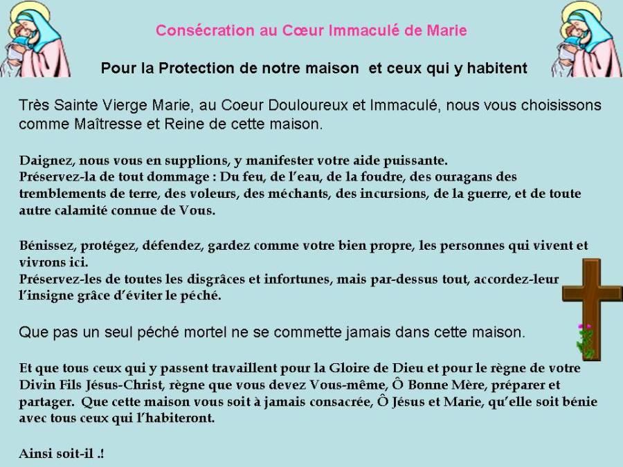 Consécration à Marie pour protection-maison1