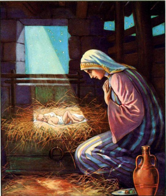 Jesus in a Manger Luke 2:7