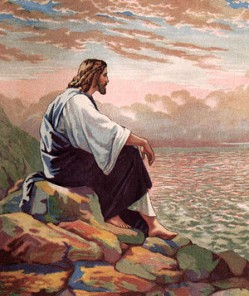 Jesus_Meditating_at_Galilee_300