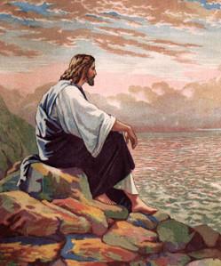 Jesus_Meditating_at_Galilee_300