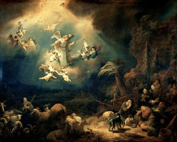 Aujourd'hui 2 Octobre : Souhaitons Bonne Fête à nos saints Anges Gardiens ! Ange-govert_flinck_-_aankondiging_aan_de_herders-760x610