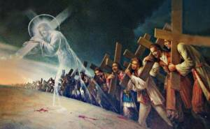 jésus porte croix apotre