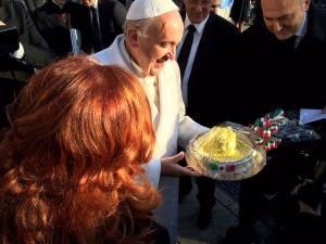 pape francois gateau fete 79 ans