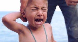 pleure réfugié syrien