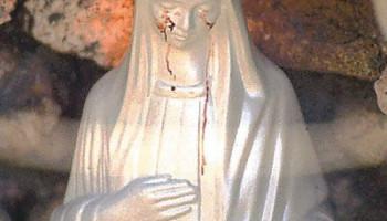 vierge marie saigne
