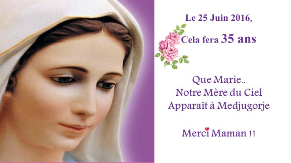 35 ans marie apparition medjugorje