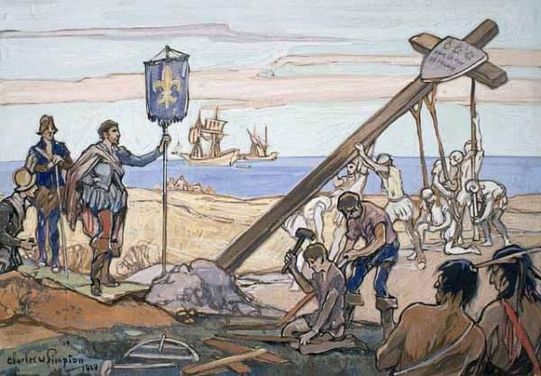 croix plantée CartierGaspe