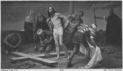 jésus flagelé et déshabille