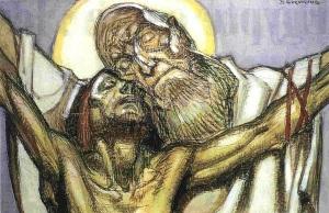jesus-en-croix-et-le-pere
