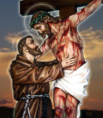 saint-francois-d-assise-et-christ