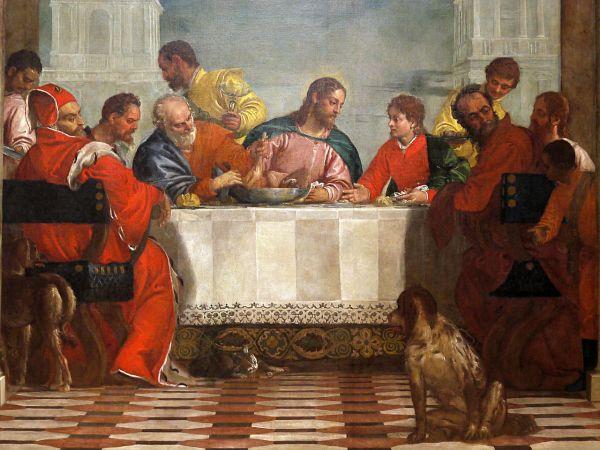 jésus mange chez lévis veronese..le.repas.chez.levi-