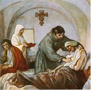 ST FRANCOIS le soin des lépreux