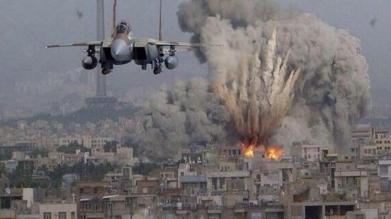 guerre aeronef-israelien-bombardant-gaza