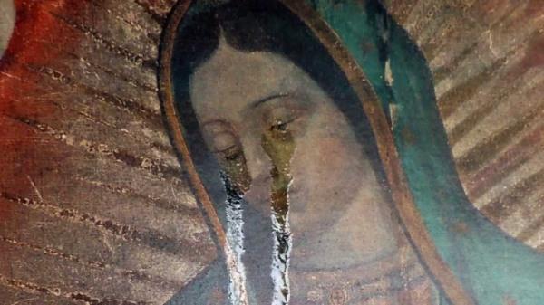 luz de maria miracle huile sur icone