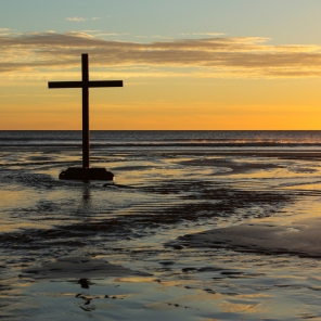 croix dans sable