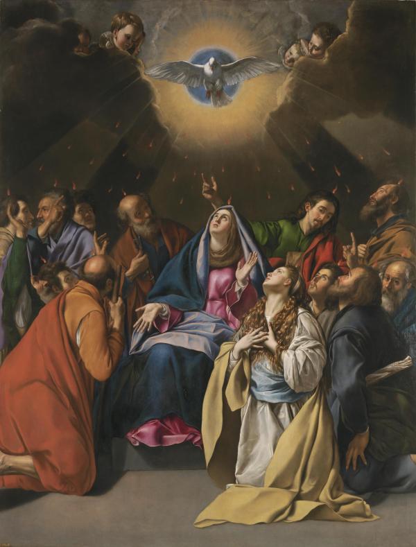 Nouvelle Jérusalem La-Pentecote-par-Juan-Bautista-Maino-1581-1649