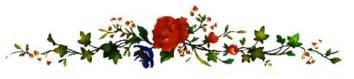 barre fleur délicate