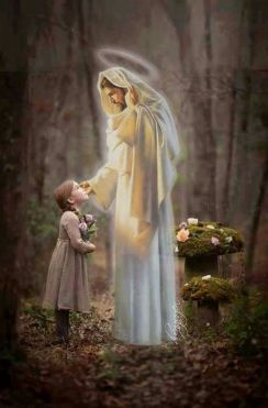 JÉSUS little-girl-looking-at-Jesus