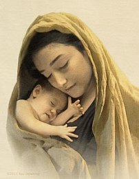 MARIE JÉSUS BÉBÉ mary-and-baby-jesus-ray-downing