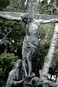 JÉSUS CROIX AVEC MARIE