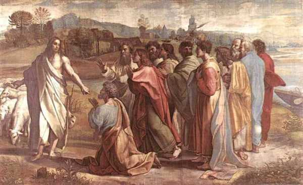 jésus donne les clé à pierre clé