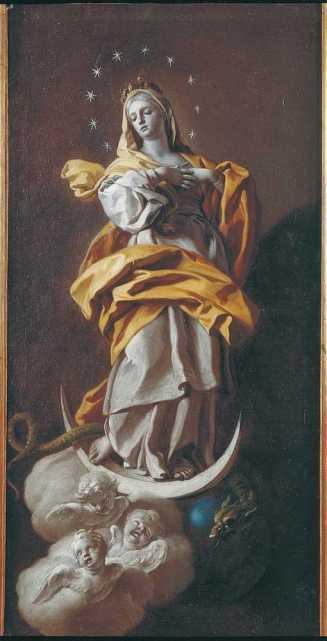 MARIE ÉCRASE SATAN Francesco__De_Mura,_Immacolata_Concezione,_coll._privata