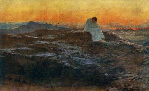 jésus désert