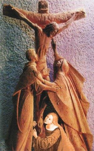 marie au pied de la croix avec Jean