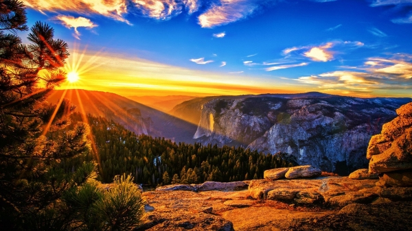paysage soleil