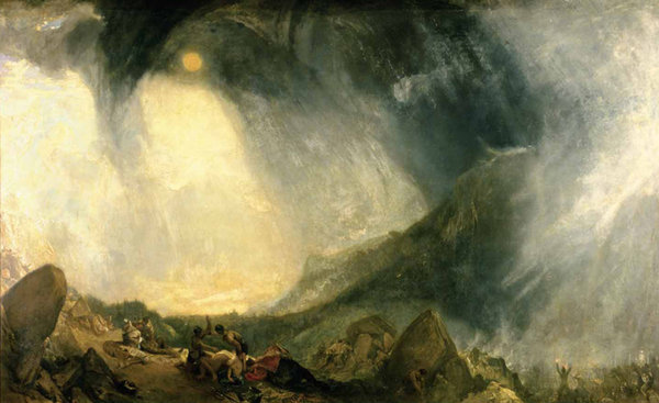 TERRE IMPUR Snow Storm, Hannibal and his Army Crossing the Alps Joseph Mallord William Turner
