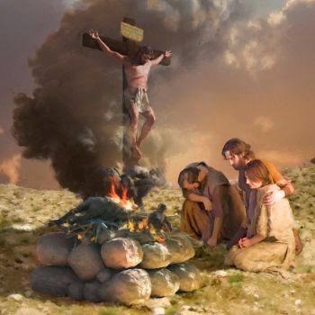 souffrance devant la croix