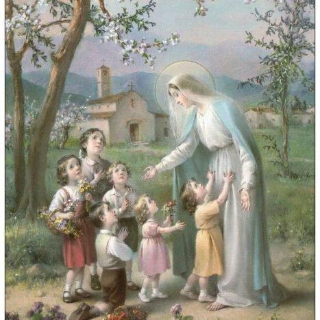 marie avec les enfants