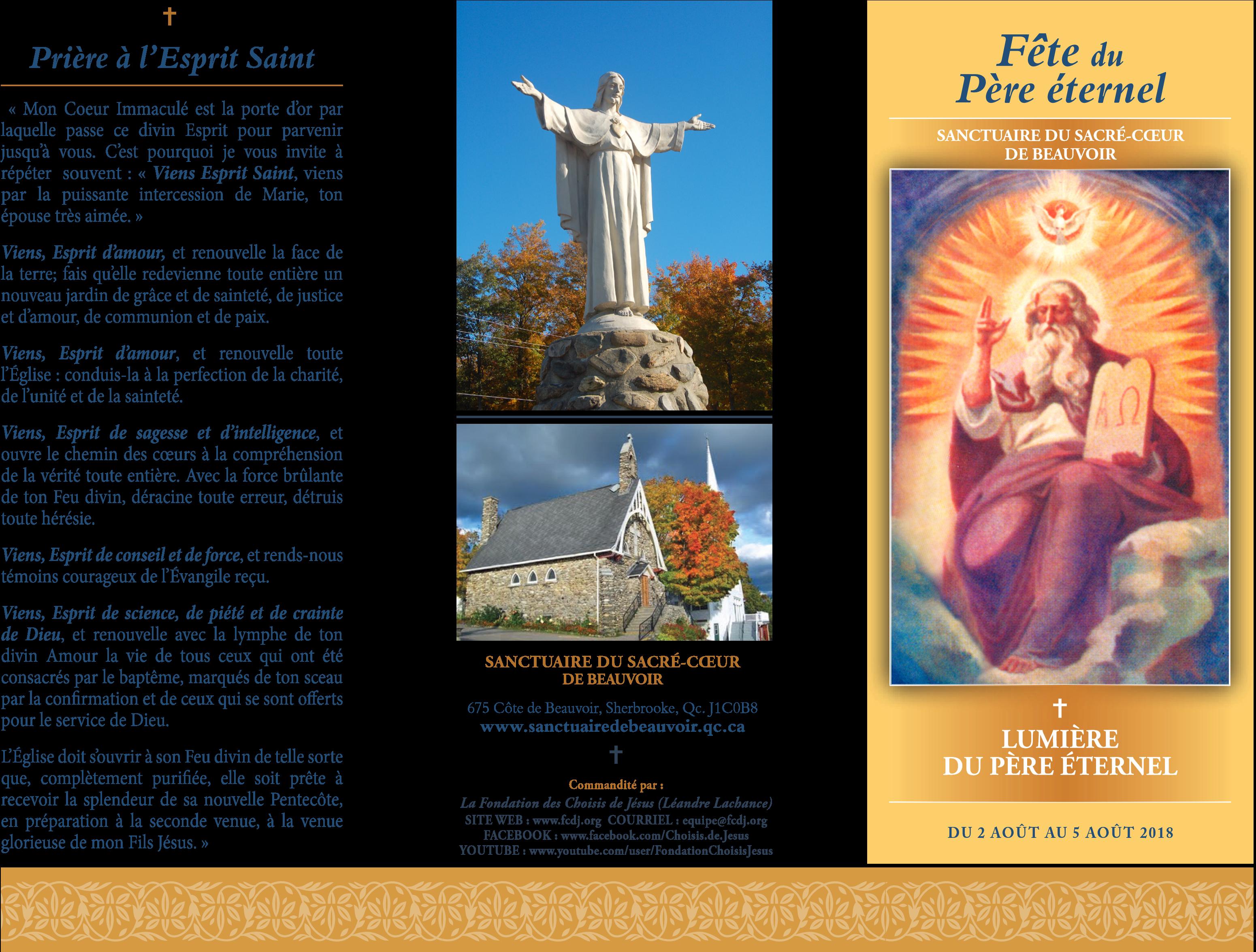 Pour La Fête Du Père éternel Invitation Au Sanctuaire Du Sacré