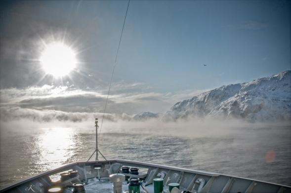 bateau soleil Barents1-proue