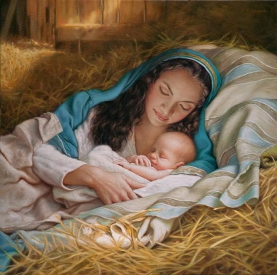 bébé jésus maman marie naissance
