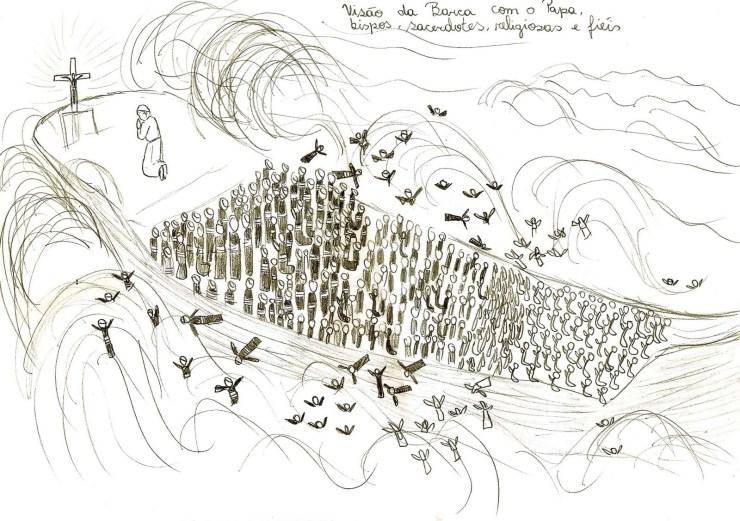 EDSON VISION DE L ÉGLISE Desenho da barca 2