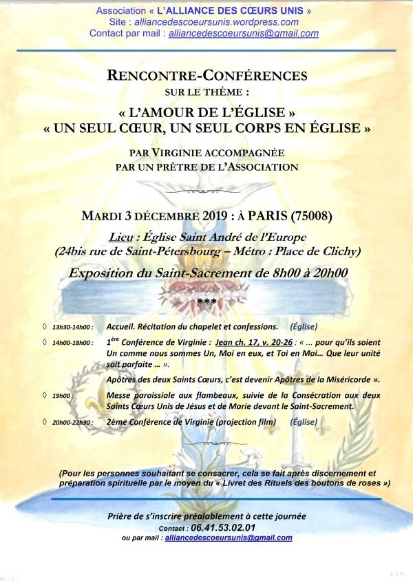 VIRGINIE 3 DÉCEMBRE 2019 RENCONTRE À PARIS